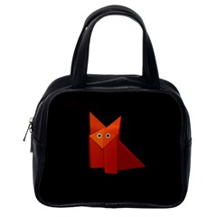 Dark Cute Origami Fox Classic Handbag (One Side)