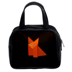 Dark Cute Origami Fox Classic Handbag (Two Sides)