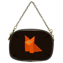 Dark Cute Origami Fox Chain Purse (One Side)