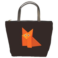 Dark Cute Origami Fox Bucket Handbag