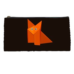 Dark Cute Origami Fox Pencil Case