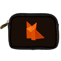 Dark Cute Origami Fox Digital Camera Leather Case