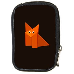 Dark Cute Origami Fox Compact Camera Leather Case