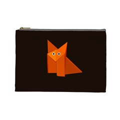 Dark Cute Origami Fox Cosmetic Bag (Large)