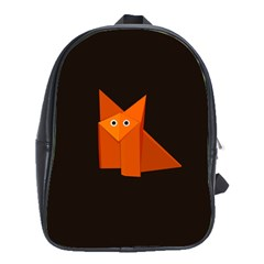 Dark Cute Origami Fox School Bag (Large)