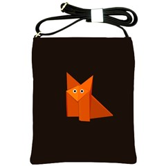 Dark Cute Origami Fox Shoulder Sling Bag