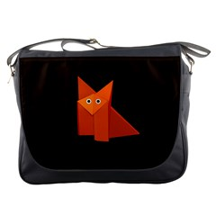 Dark Cute Origami Fox Messenger Bag