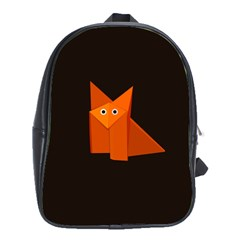 Dark Cute Origami Fox School Bag (XL)
