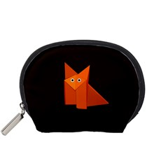 Dark Cute Origami Fox Accessories Pouch (Small)