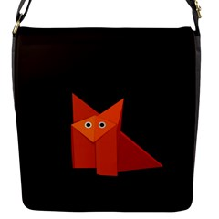 Dark Cute Origami Fox Flap Closure Messenger Bag (Small)