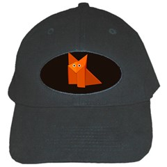 Cute Origami Fox Black Baseball Cap