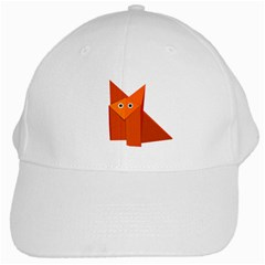 Cute Origami Fox White Baseball Cap