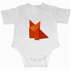 Cute Origami Fox Infant Bodysuit