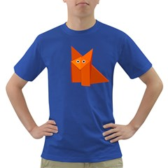 Cute Origami Fox Men s T-shirt (Colored)