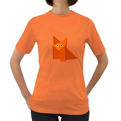 Cute Origami Fox Women s T Shirt (colored)