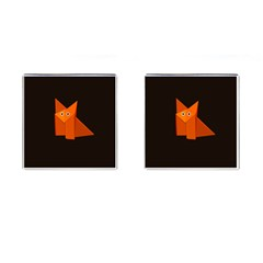 Cute Origami Fox Cufflinks (square)