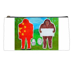 2 Yeh Ren,text & Flag In Forest  Pencil Case