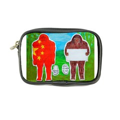 2 Yeh Ren,text & Flag In Forest  Coin Purse