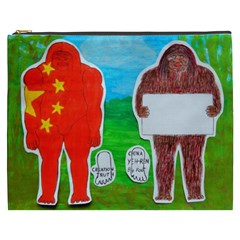 2 Yeh Ren,text & Flag In Forest  Cosmetic Bag (XXXL)