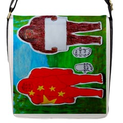 2 Yeh Ren,text & Flag In Forest  Flap Closure Messenger Bag (Small)