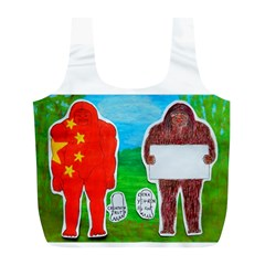 2 Yeh Ren,text & Flag In Forest  Reusable Bag (L)