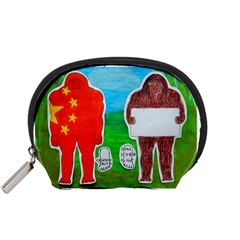 2 Yeh Ren,text & Flag In Forest  Accessories Pouch (small)