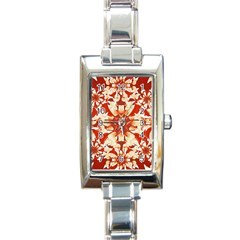 Digital Decorative Ornament Artwork Rectangular Italian Charm Watch