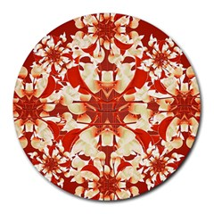 Digital Decorative Ornament Artwork 8  Mouse Pad (Round)