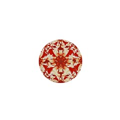 Digital Decorative Ornament Artwork 1  Mini Button Magnet