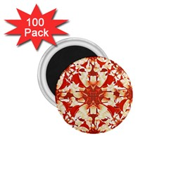 Digital Decorative Ornament Artwork 1.75  Button Magnet (100 pack)