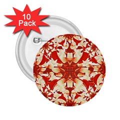 Digital Decorative Ornament Artwork 2 25  Button (10 Pack)
