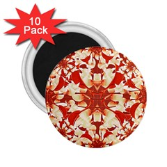 Digital Decorative Ornament Artwork 2.25  Button Magnet (10 pack)