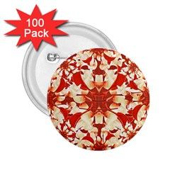 Digital Decorative Ornament Artwork 2 25  Button (100 Pack)