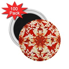 Digital Decorative Ornament Artwork 2 25  Button Magnet (100 Pack)