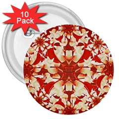 Digital Decorative Ornament Artwork 3  Button (10 pack)