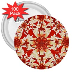 Digital Decorative Ornament Artwork 3  Button (100 Pack)
