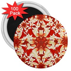 Digital Decorative Ornament Artwork 3  Button Magnet (100 pack)