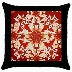 Digital Decorative Ornament Artwork Black Throw Pillow Case