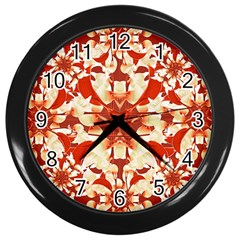 Digital Decorative Ornament Artwork Wall Clock (Black)
