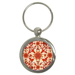 Digital Decorative Ornament Artwork Key Chain (Round)