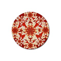 Digital Decorative Ornament Artwork Drink Coasters 4 Pack (Round)