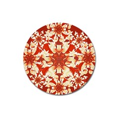 Digital Decorative Ornament Artwork Magnet 3  (Round)