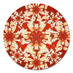 Digital Decorative Ornament Artwork Magnet 5  (round)