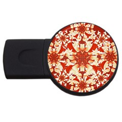 Digital Decorative Ornament Artwork 1GB USB Flash Drive (Round)