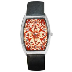 Digital Decorative Ornament Artwork Tonneau Leather Watch