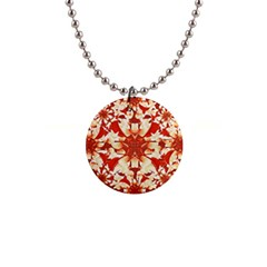Digital Decorative Ornament Artwork Button Necklace