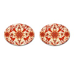 Digital Decorative Ornament Artwork Cufflinks (Oval)