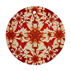 Digital Decorative Ornament Artwork Round Ornament (Two Sides)