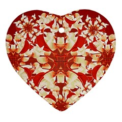 Digital Decorative Ornament Artwork Heart Ornament (Two Sides)