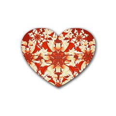 Digital Decorative Ornament Artwork Drink Coasters 4 Pack (heart)